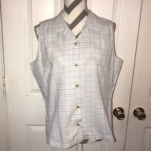 Columbia Button Down Plaid Vest L